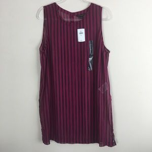 Banana Republic Size XL NWT Striped Sheer Tank L18